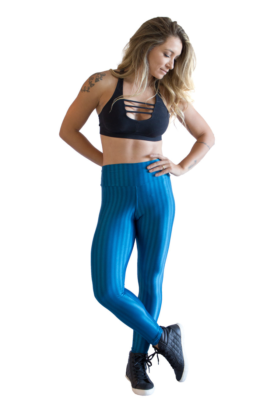 Azul do Mar Cirre Leggings - women yoga clothes beBrazil