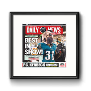 """Best in Show"" Philadelphia Eagles Underdog Story Daily News Reprint, Framed Print with Mat"