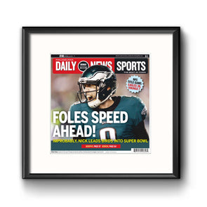Foles Speed Ahead Framed Print with Mat