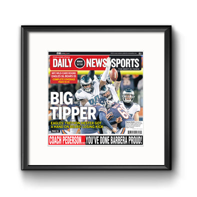 Big Tipper Daily News Sports Page Framed with Mat