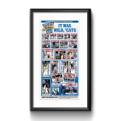 2016 Villanova NCAA Champs Commemorative Power Page Framed with Mat