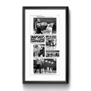 "2016 Villanova NCAA Champs Commemorative Page - ""Snapshots"" Framed with Mat"