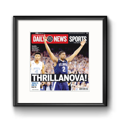 """Thrillanova!"" - Daily News, Framed Reprint with Mat"