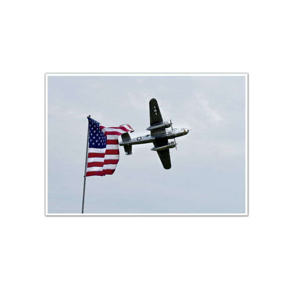 "American Air Show, Larry Kelley 1944 B-25J Bomber, ""the Panchito"" Unframed Print, by Tom Gralish"