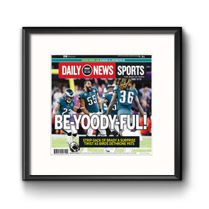 BE-YOODY-FUL! Daily News Sports Page Framed with Mat