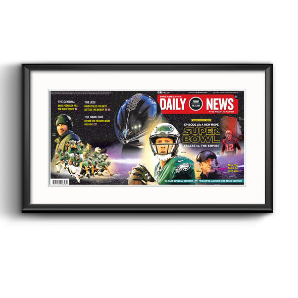 Daily News Sports Page, February 2, 2018 - Philadelphia Eagles Framed Reprint with Mat