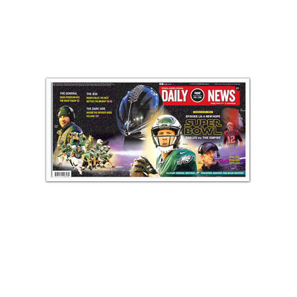 Daily News Sports Page, February 2, 2018 - Philadelphia Eagles Unframed Reprint