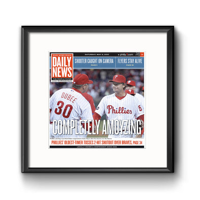 Daily News Sports Commemorative Page - Completely Amoyzing Framed Print with Mat