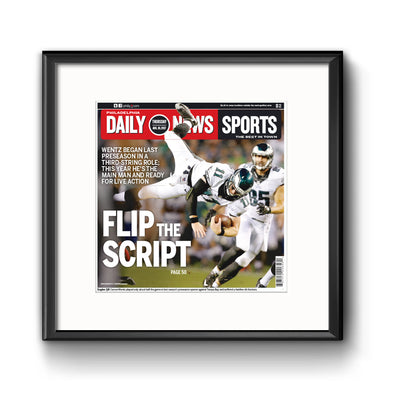 Daily News Sports Commemorative Page - Flip the Script Framed Print with Mat