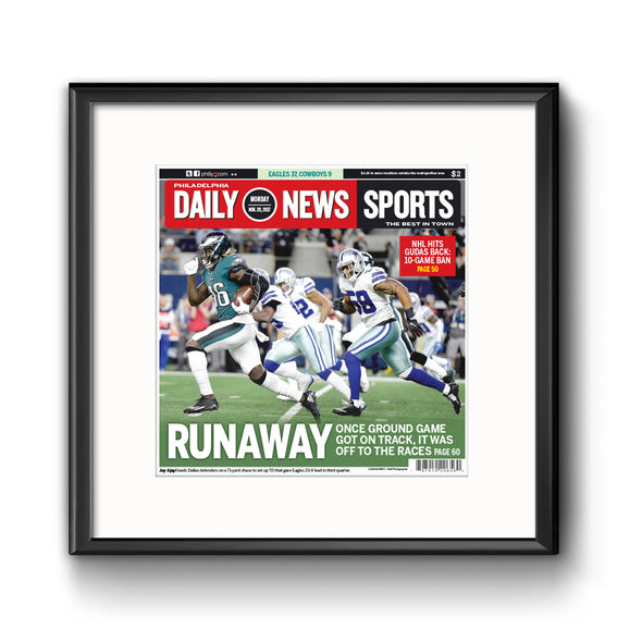 "Daily News Sports Commemorative Page - ""Runaway"" Framed Print with Mat"