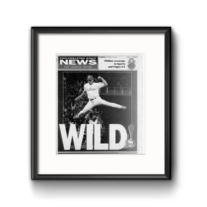 "Daily News Sports Commemorative Page - ""Wild"" Phillies, Framed Print with Mat"