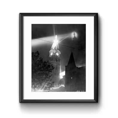 City Hall, 1926 Framed Print with Mat