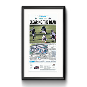 Inquirer Sports Commemorative Page - Clearing the Bear Framed Print with Mat