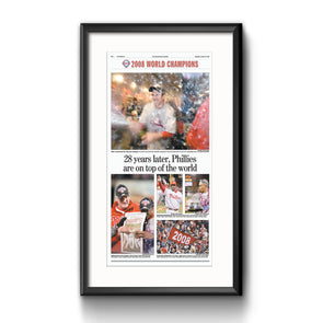 "Inquirer Sports Commemorative Page - ""On Top of the World, Framed Print with Mat"