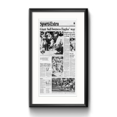 Inquirer Sports Commemorative Page - 1988 Sports Extra Framed with Mat