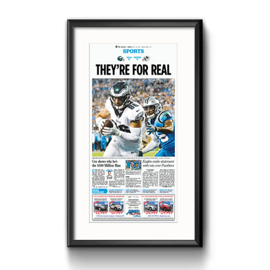 "Inquirer Sports Commemorative Page - ""They're For Real"", Framed Reprint with Mat"