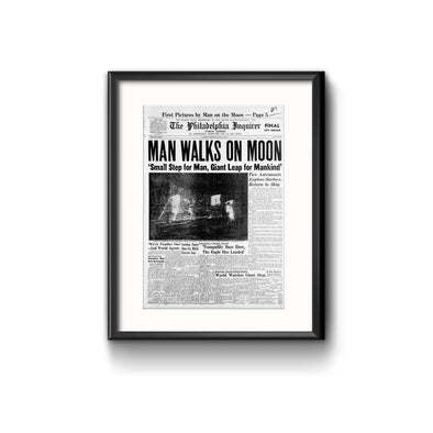 Man Walks on Moon Framed Reprint with Mat