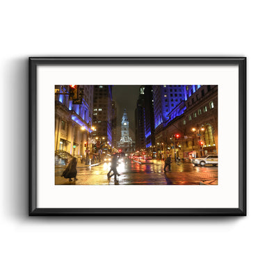 """Season of Light"" on South Broad Street, Framed Print with Mat"