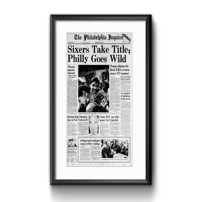 "Inquirer Sports Commemorative Page - ""Philly Goes Wild"" Framed with Mat"