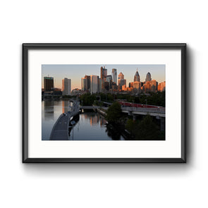 """View from South Street Bridge"", Framed Print with Mat"