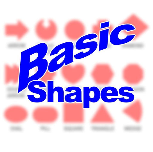 Basic Shapes - Personalized Game Tokens (10) - LITKO Game Accessories