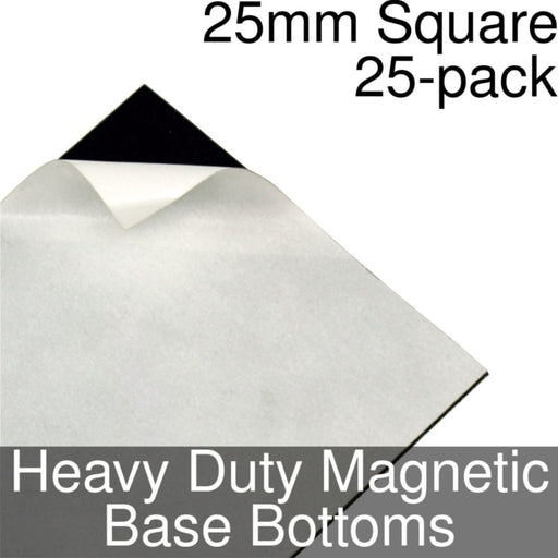 Miniature Base Bottoms, Square, 25mm, Heavy Duty Magnet (25) - LITKO Game Accessories