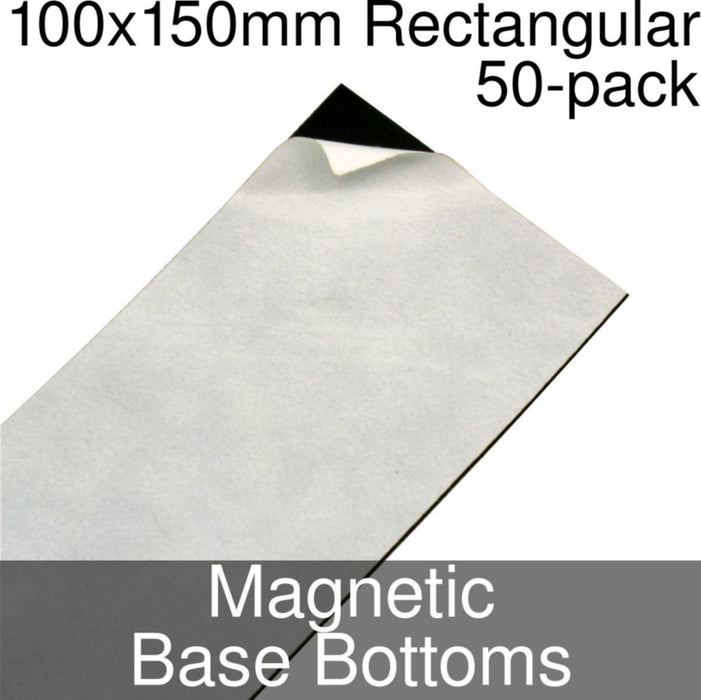 Miniature Base Bottoms, Rectangular, 100x150mm, Magnet (50) - LITKO Game Accessories