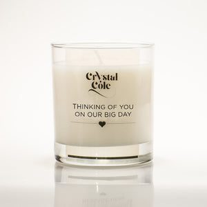 Wedding Remembrance Candle - scented candle gift