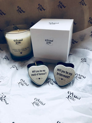 "Small Tea Light ""Will you"" Gifts - Will you be my bridesmaid?"