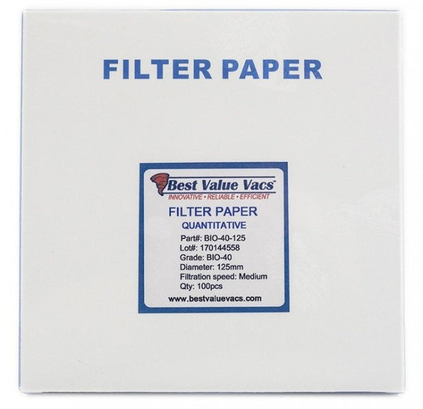 Ashless Filter Papers - 125MM - Quantitative