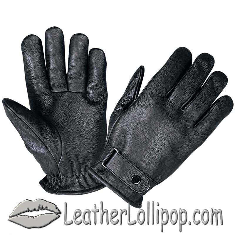 Full Finger Leather Riding Gloves with Adjustable Strap - SKU LL-1229.00-UN