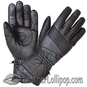 Full Finger Waterproof Leather Motorcycle Riding Gauntlet Gloves - SKU LL-1433.00-UN