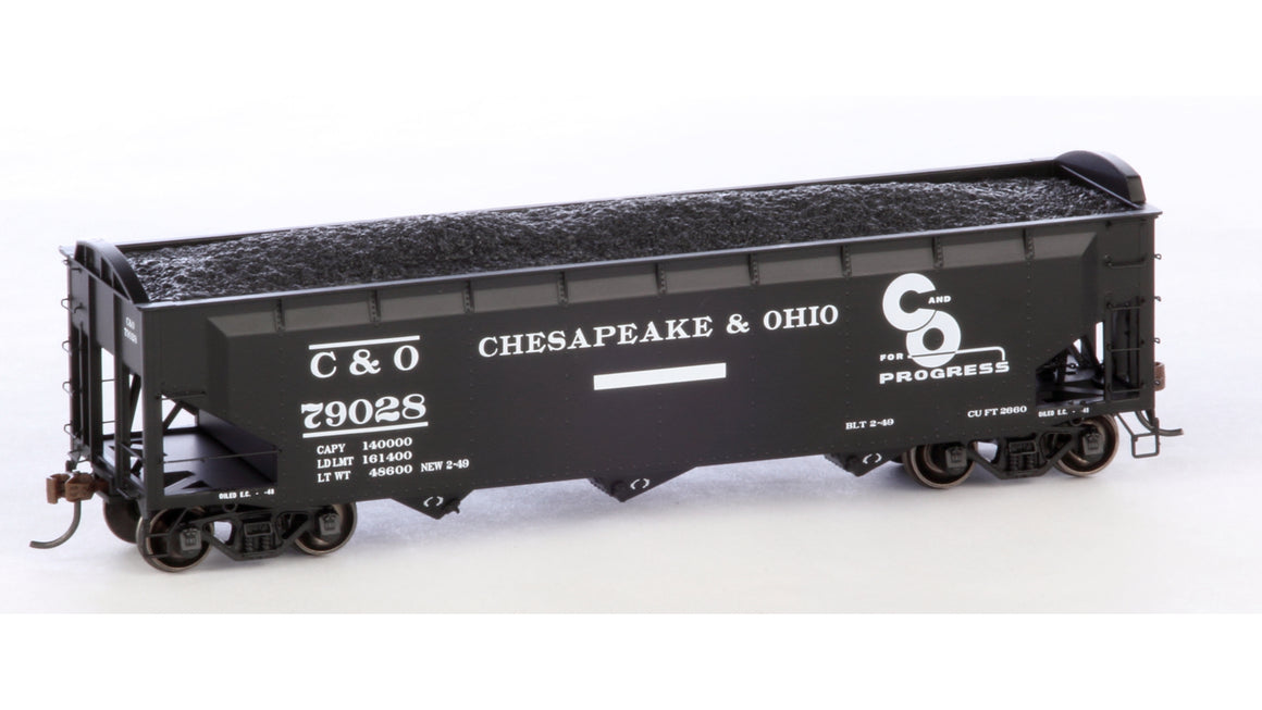 HO 40' 3-Bay Offset Hopper w/Load by ATHEARN