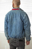 Vintage Polo Ralph Lauren Harrington Jacket Denim Logo - TAGVIN