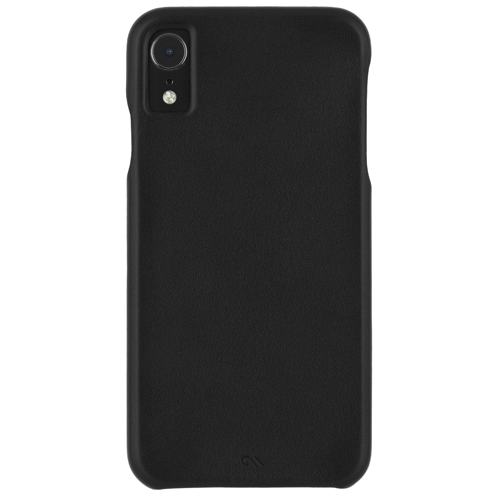 "Case-Mate Barely There Ultra Slim Genuine Leather Case for iPhone XR (6.1"") - Black - Gearlyst"