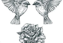 Birds, Rose and Key