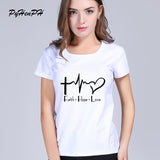 New 2017 Summer Style Faith Hope Love Christian T-shirt christianity god Girls Gift T Shirt Woman Casual Short Sleeve Top Tees