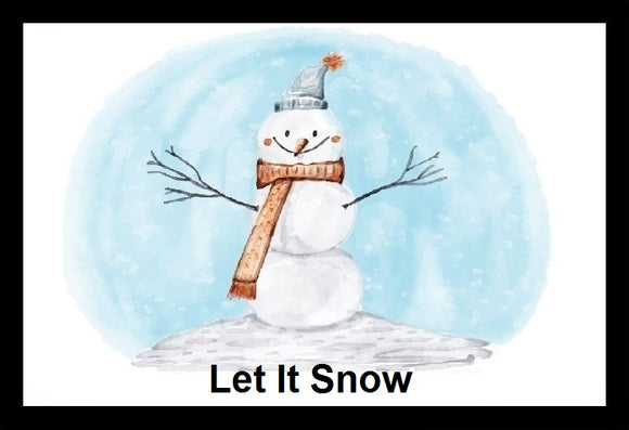 Let It Snow Snowman Christmas SayIt