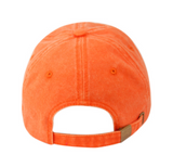Washed Orange Unstructured Cap