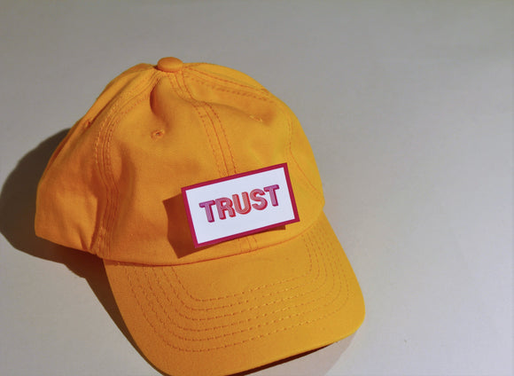 Yellow Unstructured Cap