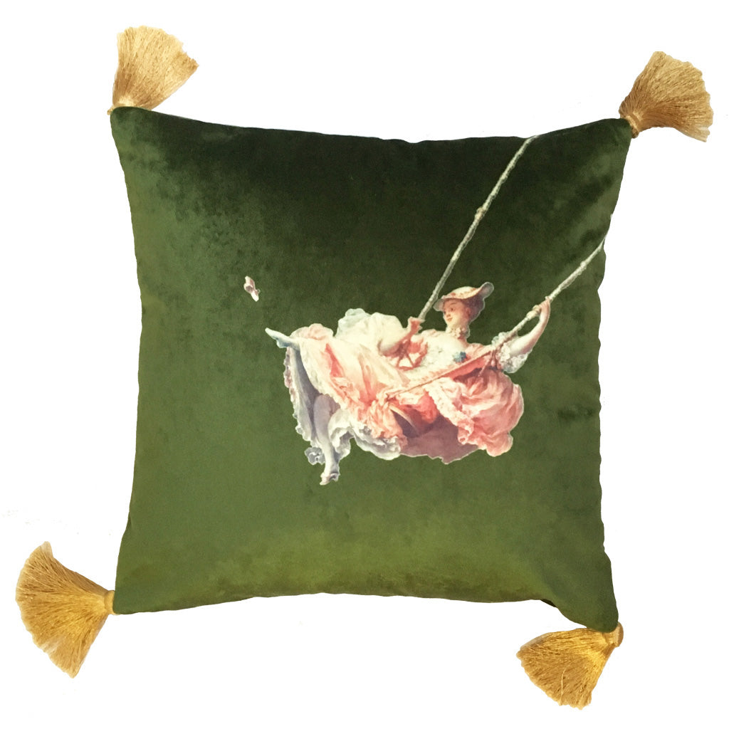 The Swing Velvet Cushion - by Melody Rose