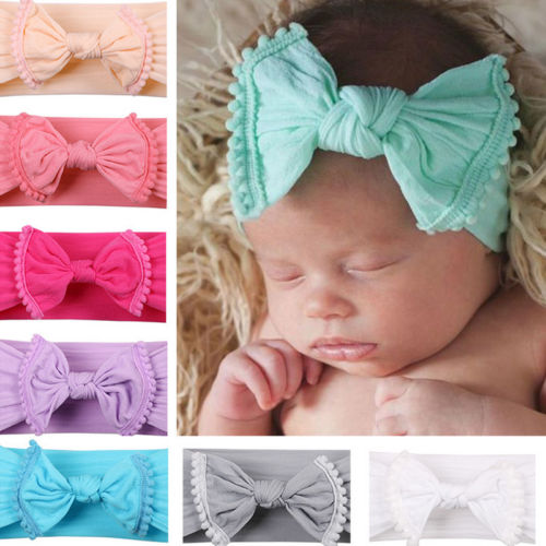The Vicki Pom Pom Bow Headband