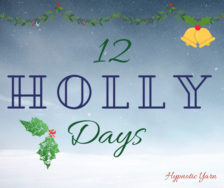 7th Holly Day: Snowfall Mug Rug