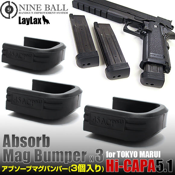 Nineball Absorb Magazine Bumpers for Tokyo Marui 5.1 - 3 pack