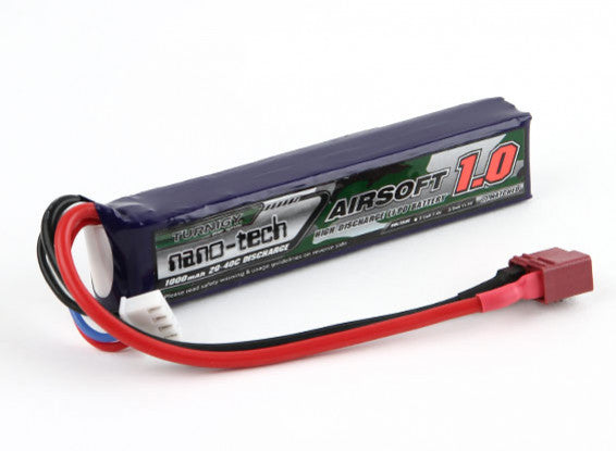 Turnigy Nano-Tech 11.1v 20c 1000mAh Lipo Deans - Stick Type