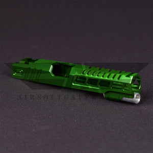 "Airsoft Masterpiece Custom ""Speed"" Standard Slide for Hi-CAPA/1911 - Green - airsoftgateway.com"