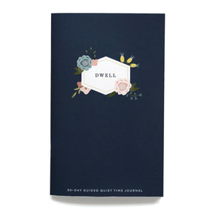 Midnight Floral Dwell Journal. A 30-day guided quiet time journal.