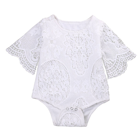 Image of Lace Ruffle Romper