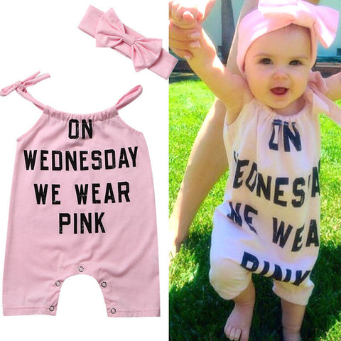 On Wednesday We Wear Pink Romper Set