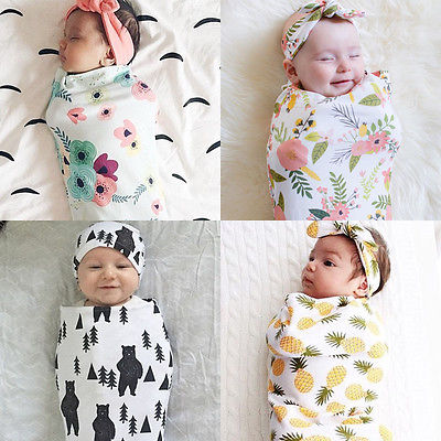 Image of Swaddle sack and headband set